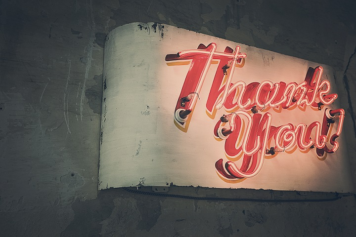 Thank-you-Schrift